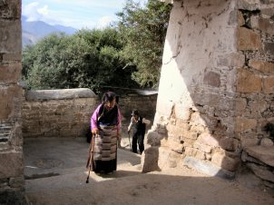 Pilgriims at Drepung Monastery - Tibet