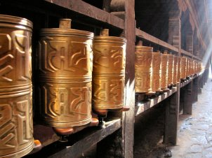 Prayer wheels - Lasha, Tibet