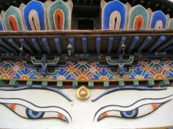 Kumbum Stupa eyes