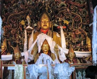 Tibet temple statue