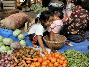 Thimpu weekend market - Bhutan