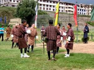 Bhutanese archery competition