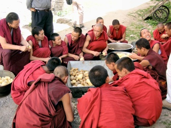 Monks on K.P. duty - Tibet