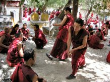 Debating monks at Sera, Tibet