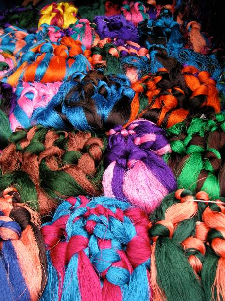 Hair embellishments at Barkhor Market - Tibet