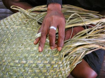 Palm weaving