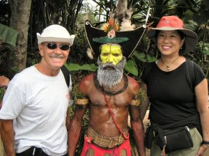 Bob and Diana with a Papua New Guinea chief