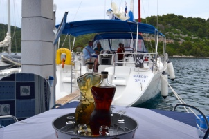 (68) June 17 - Provocative Bottles at Chez Joseph, Mljet Island