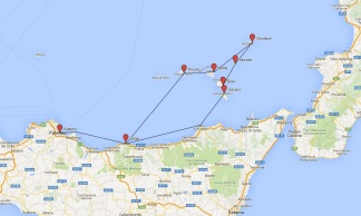 Our sailing itinerary