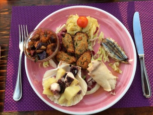 Yummy seafood plate