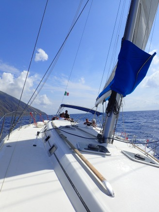 On the way to Panarea