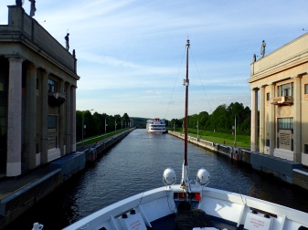 Moscow Canal lock -- we went through 17 during the voyage