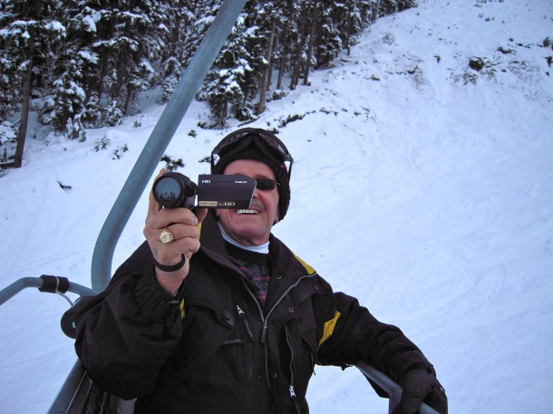 "Robert ""Scorcese"" on the chairlift"