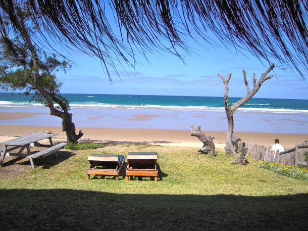 Mozambique: view from our beachside casita