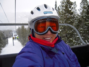 Somehow I ended up solo on the chairlift at Breckenridge.