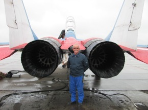 Two rocket engines help fly the MIG