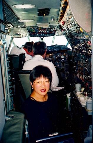 Diana in the cockpit-Concorde
