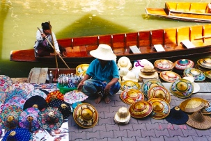Floating market, Thailand Jun 1998