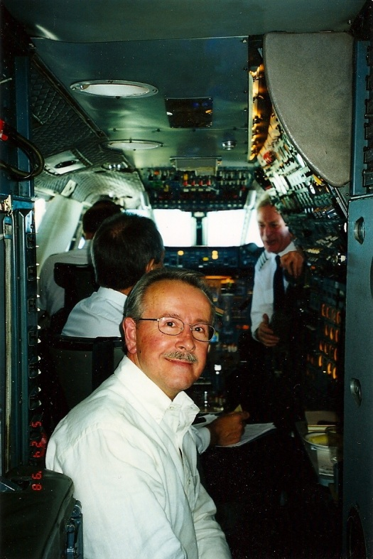 Bob in the cockpit-Concorde