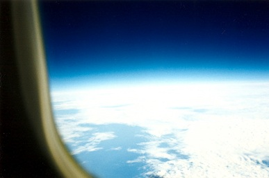 Curvature of the earth at 60,000 ft