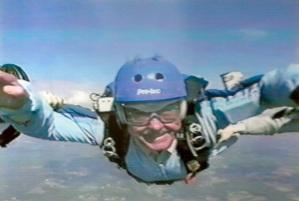 Bob skydiving
