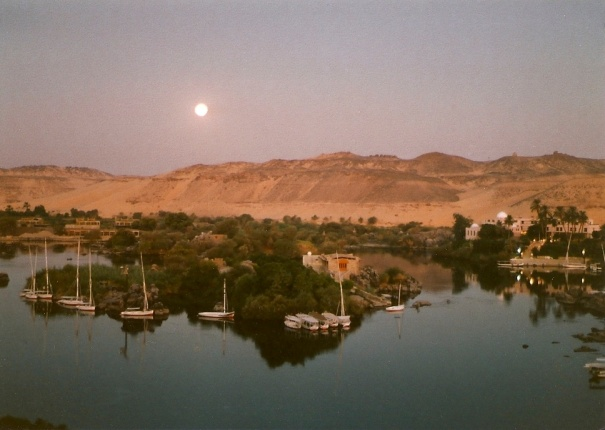 Moonrise over the Nile