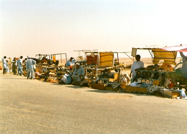 Vendors by the pyramids