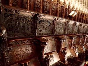 Madrid - beautiful carved choir stalls