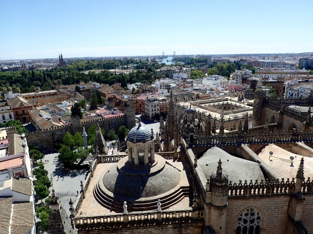 View of Alcazar & Sevilla from Bell Tower
