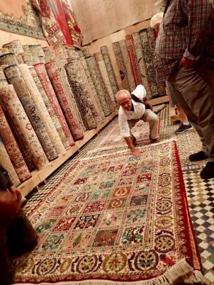 Fes medina carpet shop