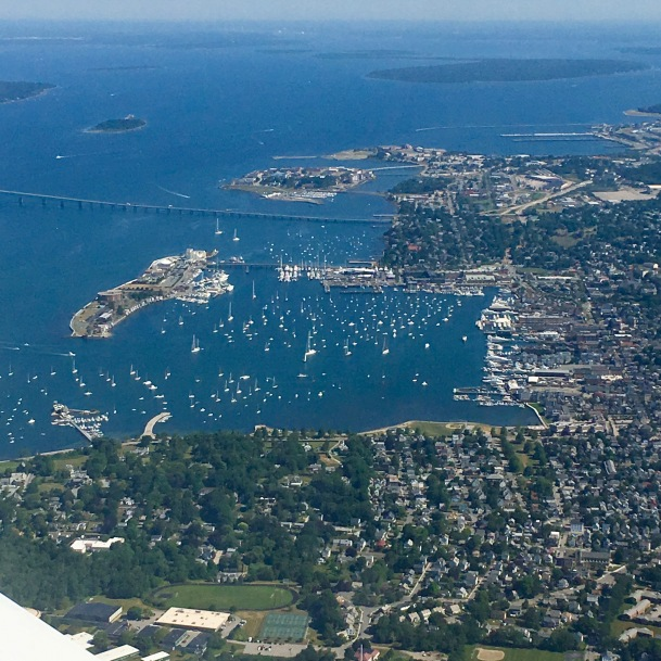 Newport from the air