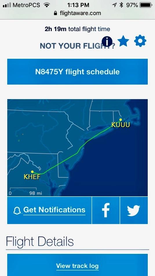 Flight from Newport to Manassas