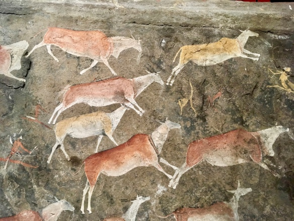 Ancient rock art looks modern